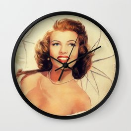 Rita Hayworth, Hollywood Legend Wall Clock
