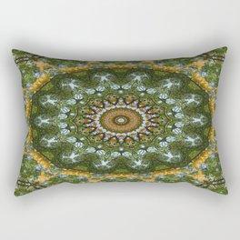 Yellow Tree Flower Kaleidoscope Art 4 Rectangular Pillow