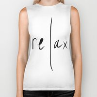 relax Biker Tanks featuring relax by Malkin