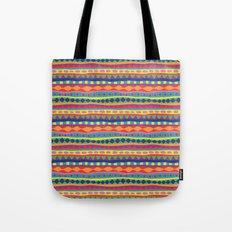 Stripey-Crayon Colors Tote Bag