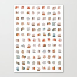 Watercolor Brushstrokes Abstract Geometrical Pattern Canvas Print