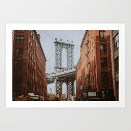 New York City X / Brooklyn Bridge Art Print
