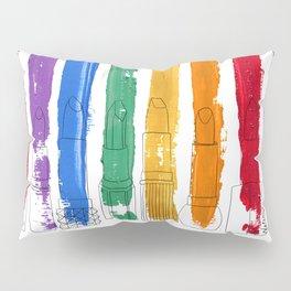 Rainbow Lipstick Stripes Pillow Sham