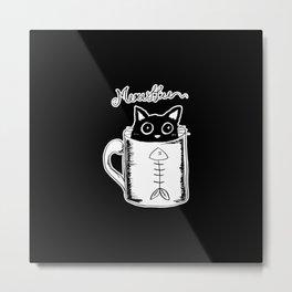 Hand Drawing Meowffee Metal Print