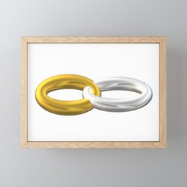 Gold and silver 3D ring. Framed Mini Art Print