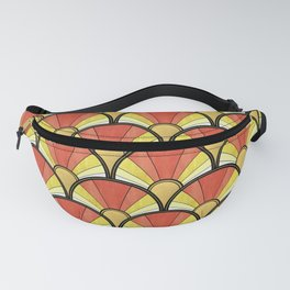 Radiant Sunshine Art Deco Pattern Fanny Pack