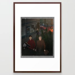 Fight the dead. Fear the living Framed Art Print
