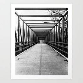 Bridge to Nowhere Black and White Photography Art Print