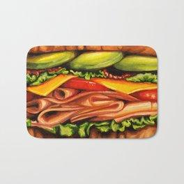 Sandwich- Turkey Bacon Avocado Bath Mat