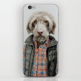dog in shirt iPhone Skin