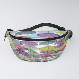 Floating Colorful Umbrellas of Puerto Rico  Fanny Pack