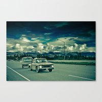 alaska Canvas Prints featuring Alaska by Paweł Kotas