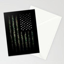 Khaki american flag Stationery Cards