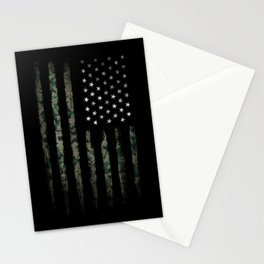 Khaki american flag Stationery Cards