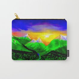 When sun rising up in the mountains ... Carry-All Pouch