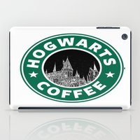hogwarts iPad Cases featuring Hogwarts Coffee by Beautiful Bibliophile's Boutique