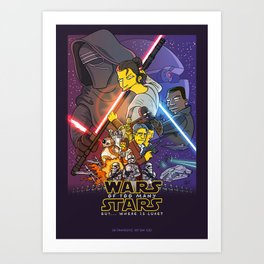 Wars of too many Stars Art Print