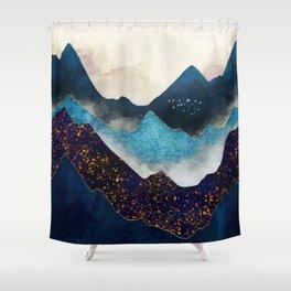 Indigo Peaks Shower Curtain