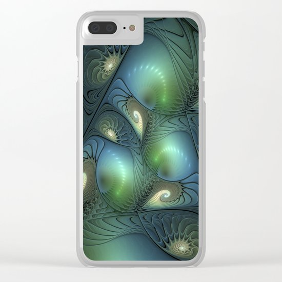 Where Spirals Live Clear iPhone Case