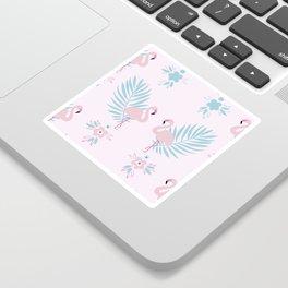 Pretty Pastel Flamingo Chevron Pattern #decor Sticker