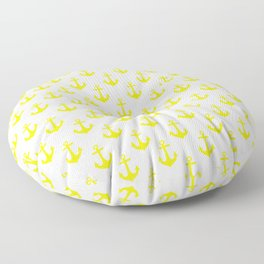 Anchors (Yellow & White Pattern) Floor Pillow