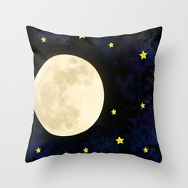 moon in space Throw Pillow