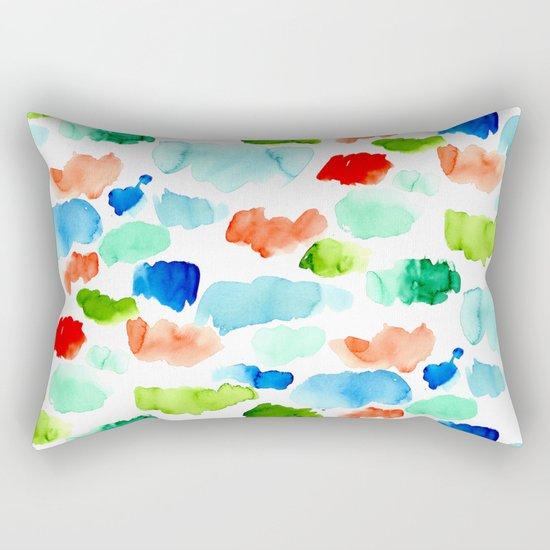 Watercolor Swatch Pattern Rectangular Pillow
