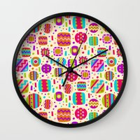 carnival Wall Clocks featuring Carnival by Valendji
