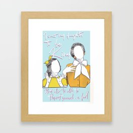 mother like daughter Framed Art Print