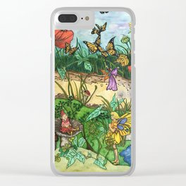 Day in the garden Clear iPhone Case