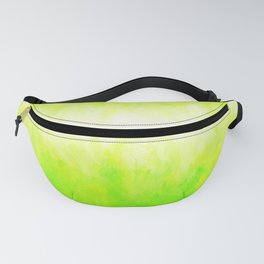 Neon Lemon Lime Abstract Fanny Pack