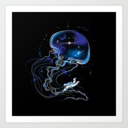 Universe Is a Big Jellyfish Art Print