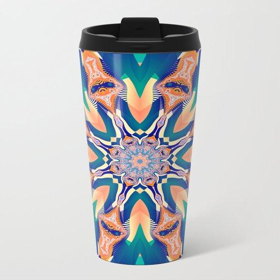 Abstract kaleidoscope with tribal patterns Metal Travel Mug
