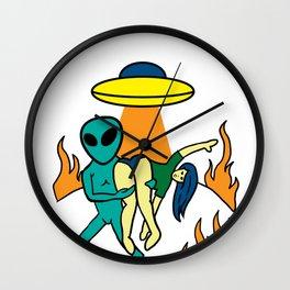 Alien Ufo Grey Et Extraterrestrial Spaceman Gift Wall Clock