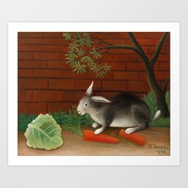 The Rabbit's Meal, Henri Rousseau, 1908 Art Print