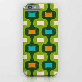 Colorful Mid Century Modern Ogee Pattern 350 iPhone Case