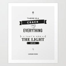 Leonard Cohen, Motivational Quote Art Print