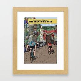 The Adventures of Capeman - The Great Bike Race Framed Art Print