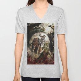 Saint Georgine and the Dragon Unisex V-Neck