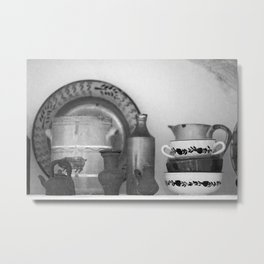 Pottery still life Metal Print