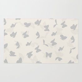 flying butterflies in pastel colors Rug