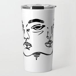 Tumblr 3 eyed twin girl Travel Mug