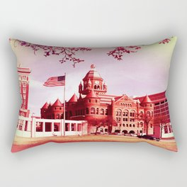 FLAG IN DEALEY PLAZA Rectangular Pillow