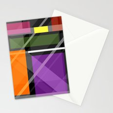 Crossing Shapes Stationery Cards