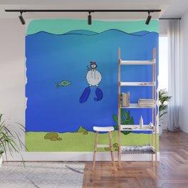 Eglantine la poule (the hen) is diving. Wall Mural