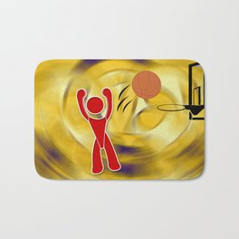 Basketball Icon Bath Mat
