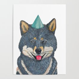 Celebratory Shiba Poster