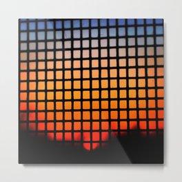 SUNSET SQUARES Metal Print