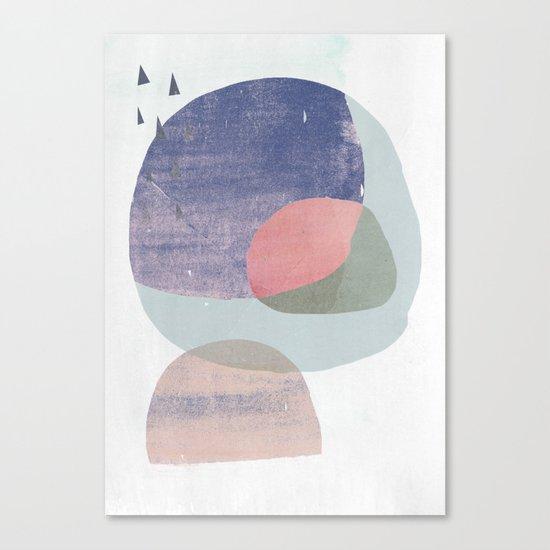 04 circles and tri purple Canvas Print