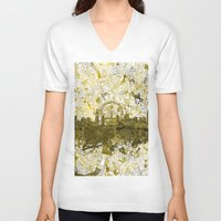 london V-neck T-shirts featuring London by Bekim ART